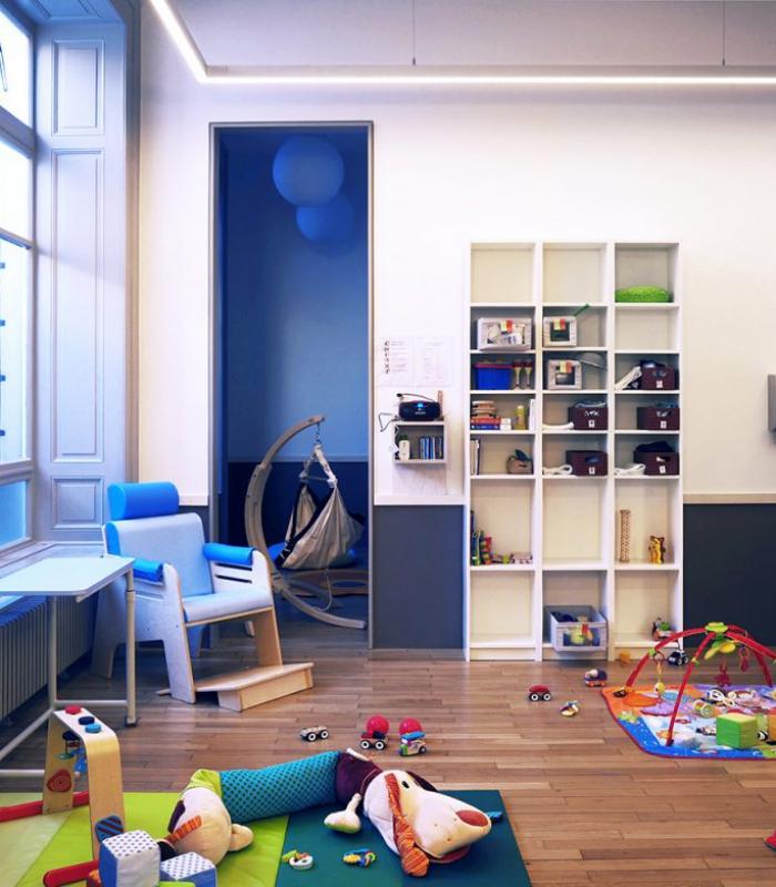 Crèche du Centenaire - Lausanne - salle des bébés