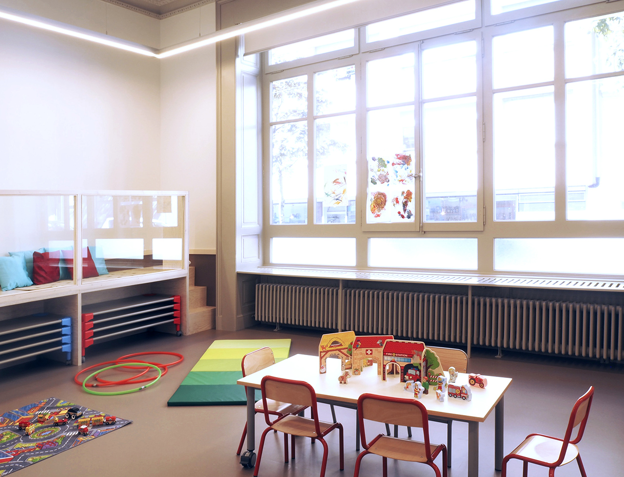 Crèche du Centenaire - Lausanne - salle des trotteurs